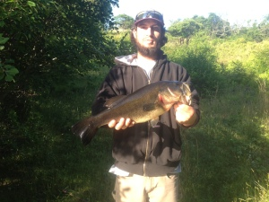 5lb bass in secret SC pond