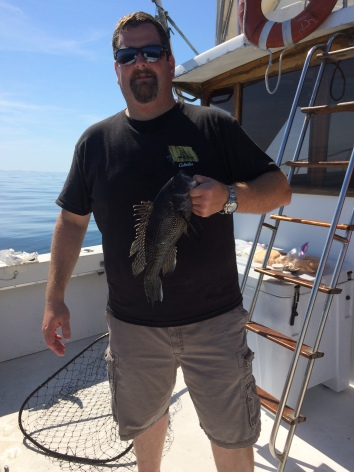 brian quimby with a fine fluke
