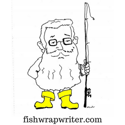 clean fishwrap logo yellow